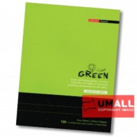 image of UNI GREEN EXERCISE BOOK 70G F5 120P (SBL1203) 2 FOR