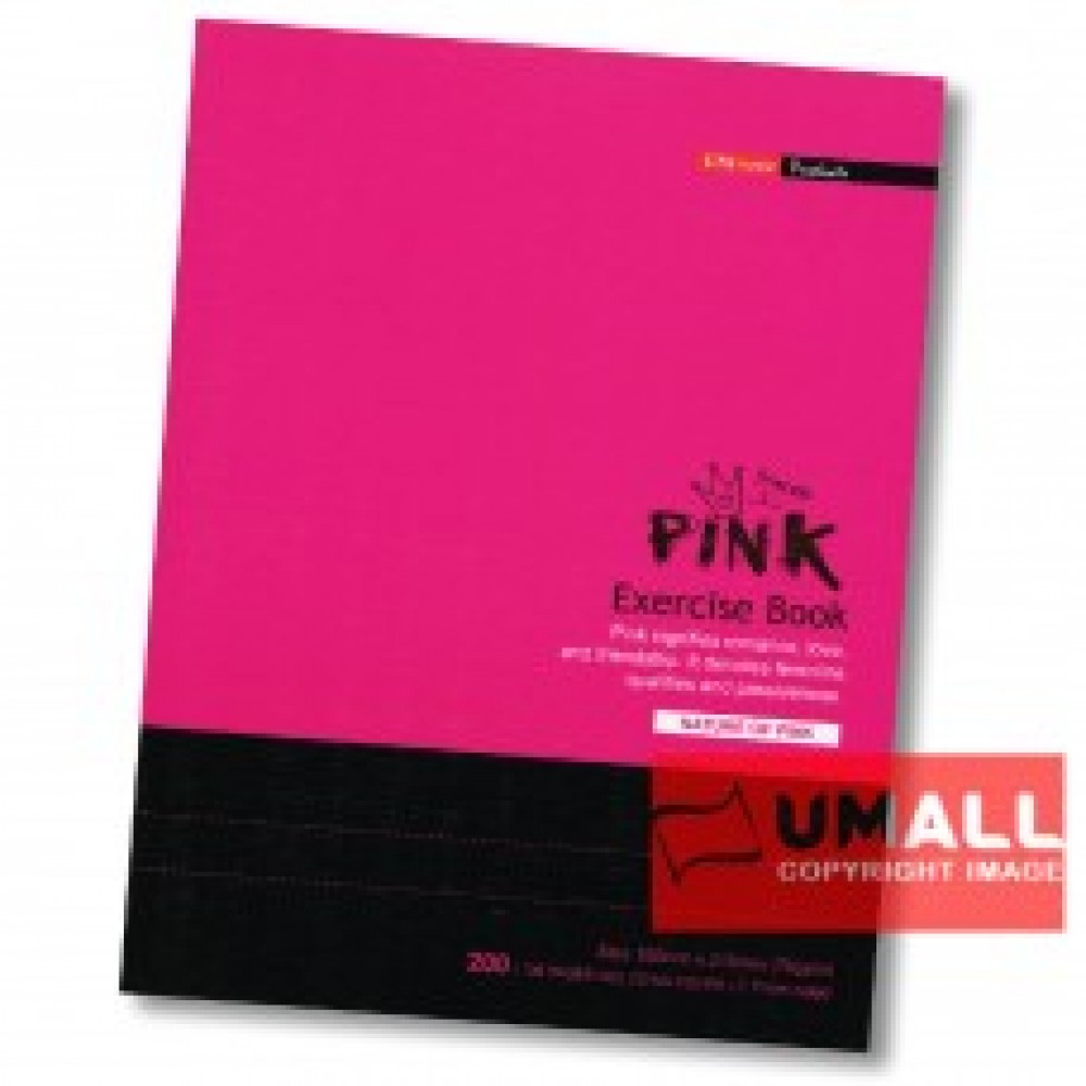 UNI PINK EXERCISE BOOK 70G F5 200P (SBL2003)