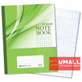 image of UNI NOTE BOOK 60G F5 80P (SBL804) SMALL SQUARE 3 FOR