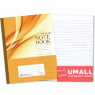 image of UNI NOTE BOOK 60G F5 80P (SBL808) BLUE/RED LINE 3 FOR