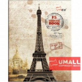 image of UNI CARD COVER EXERCISE BOOK 70G F5-80P (S-813) 3 FOR