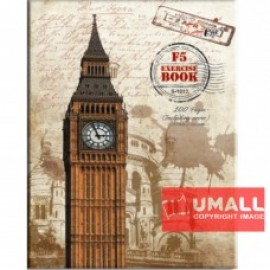 image of UNI CARD COVER EXERCISE BOOK 70G F5-120P (S-1013) 2 FOR
