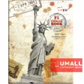 image of UNI CARD COVER EXERCISE BOOK 70G F5-200P (S-2013)