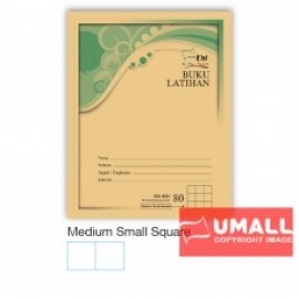 image of UNI F5 EXERCISE BOOK (BROWN COVER) 80P - MED.SMALL SQUARE (10 in 1)