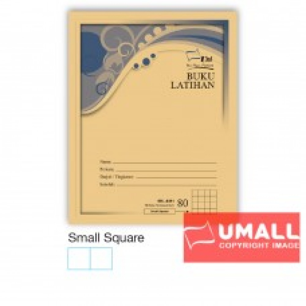 UNI F5 EXERCISE BOOK (BROWN COVER) 80P - SMALL SQUARE (10 IN 1)