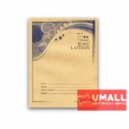 image of UNI F5 EXERCISE BOOK (BROWN COVER) 200P - SINGLE LINE (5 IN 1)