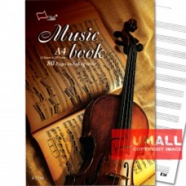 image of UNI MUSIC BOOK A4-80P (S-7788)