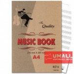 UNI MUSIC BOOK A4-40'S (S-MZ1003) 3 FOR