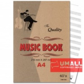 image of UNI MUSIC BOOK A4-40'S (S-MZ1003) 3 FOR