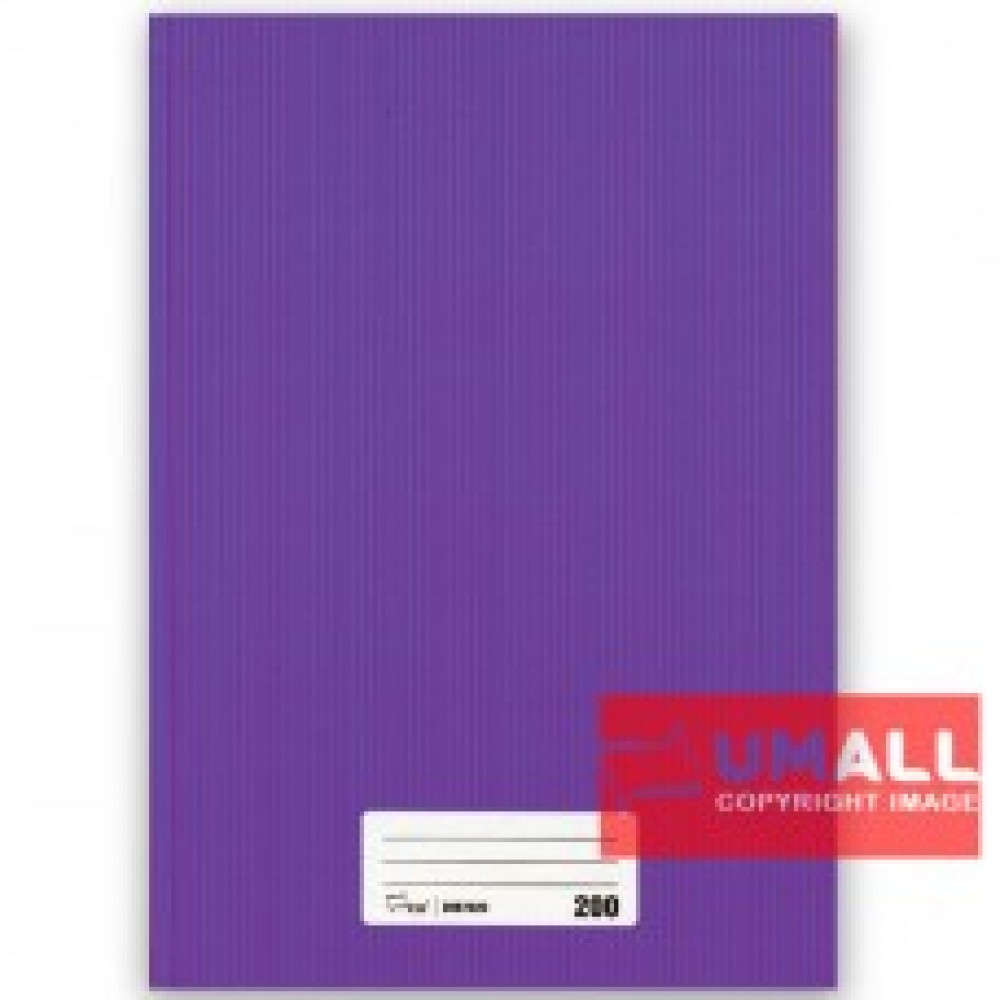 UNI A4 HARD COVER BOOK 60G 200P (SNB7020)