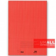 image of UNI A4 HARD COVER BOOK 60G 300P (SNB7030)