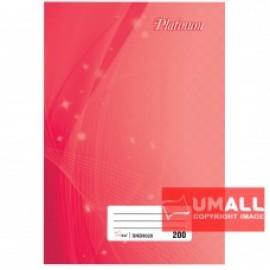 image of UNI PLATINUM SHORT OBLONG H/C BOOK F6-200P (SNB9020)