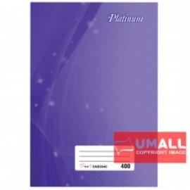 image of UNI PLATINUM SHORT OBLONG H/C BOOK F6-400P (SNB9040)