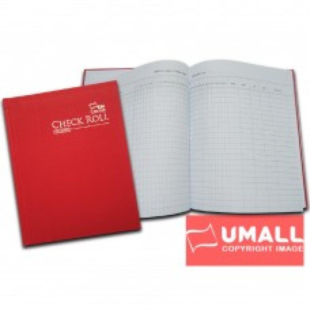 UNI H/C CHECK ROLL BOOK F5-200P (SCRB104)