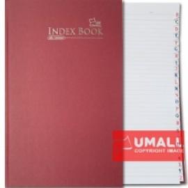 image of UNI INDEX FOOLSCAP H/C BOOK F4-400P (S-NB2204)