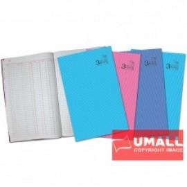 image of UNI 3 COLUMNS FOOLSCAP H/C BOOK F4-200P (S-2202)