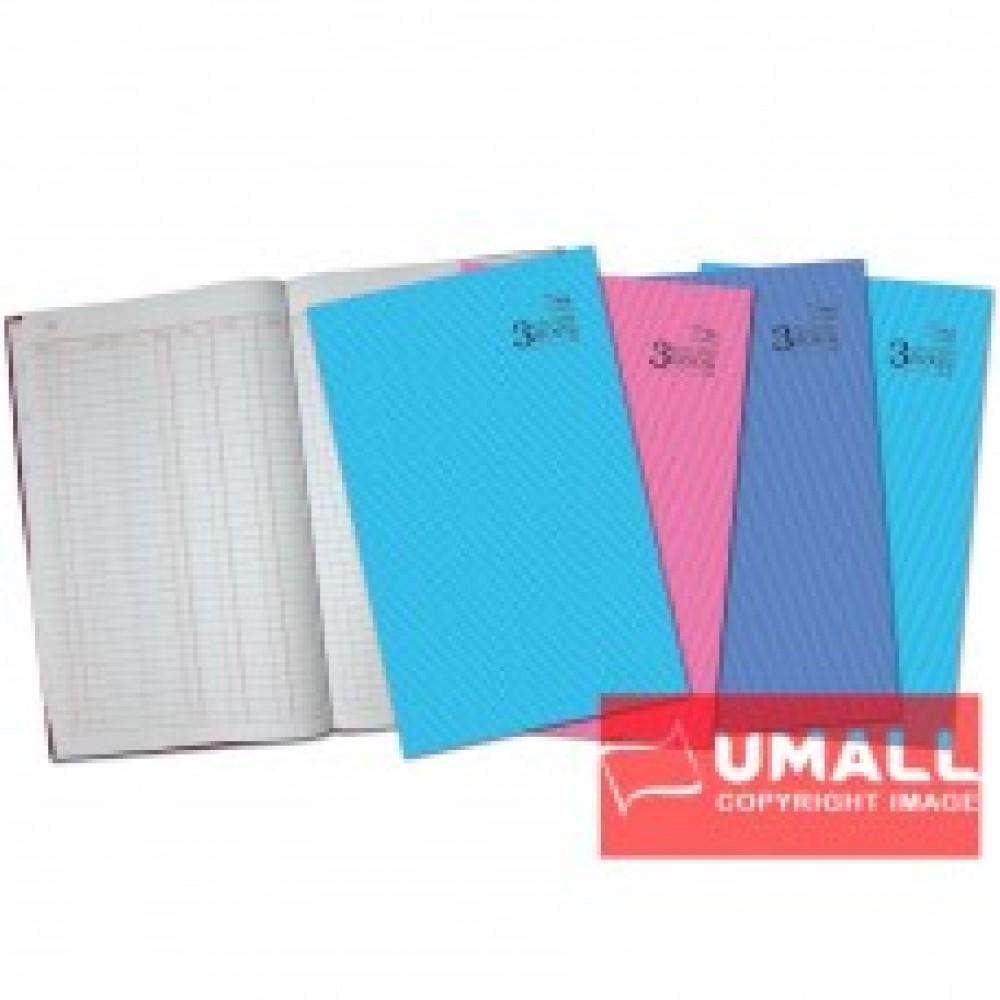 UNI 3 COLUMNS FOOLSCAP H/C BOOK F4-300P (S-2203)