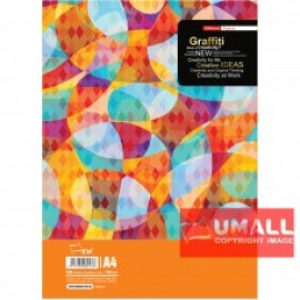 image of UNI GRAFFITY EXAM PAD 70G A4-100'S (SA8013)