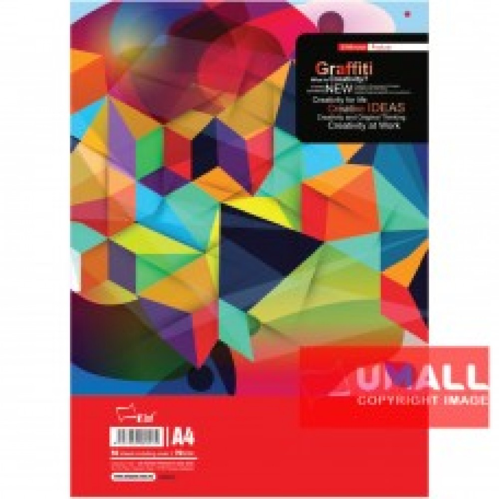 UNI GRAFFITY EXAM PAD 70G A4-50'S (SA8053)