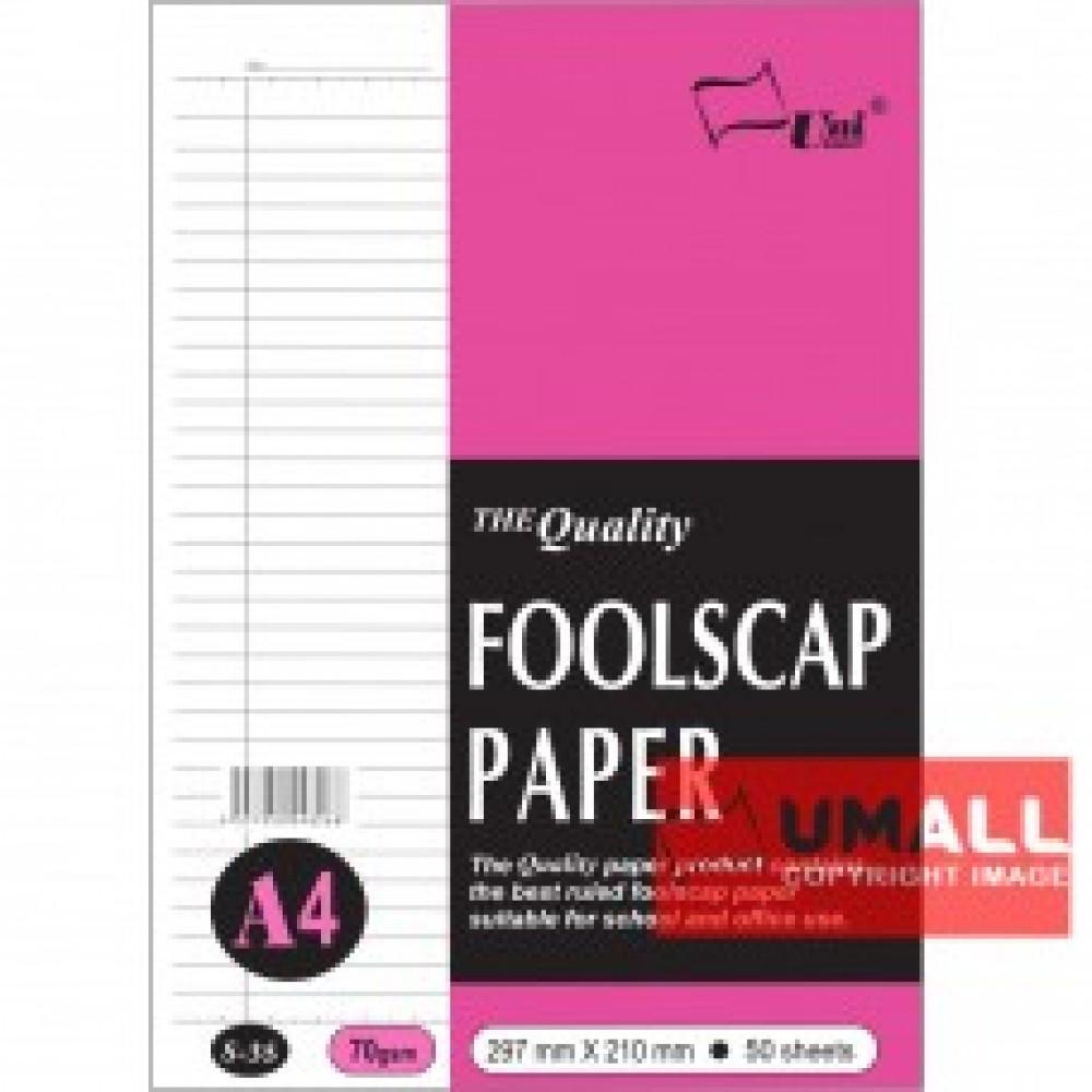 UNI FOOLSCAP PAPER 70G A4-48'S (S35)