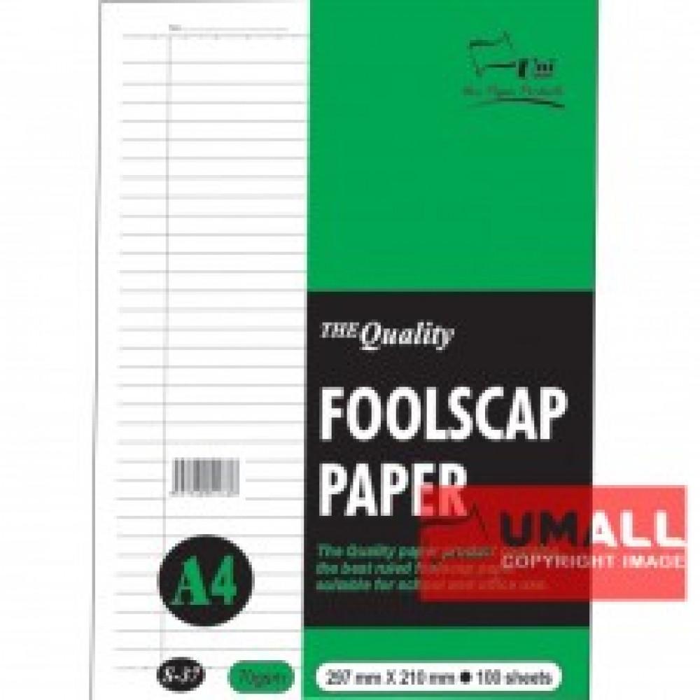 UNI FOOLSCAP PAPER 70G A4-100'S (S37)