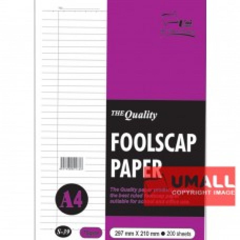 UNI FOOLSCAP PAPER 70G A4-200'S (S-37)