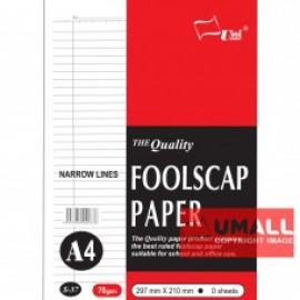 image of UNI FOOLSCAP PAPER N/L 70G A4-100'S (S37)