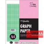 UNI GRAPH PAPER 70G A4-100'S (S37)
