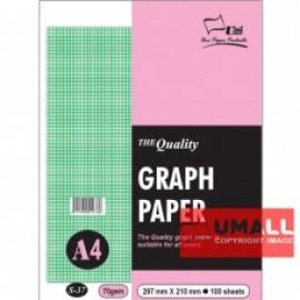 image of UNI GRAPH PAPER 70G A4-100'S (S37)