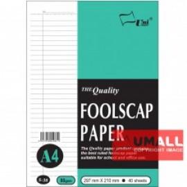 image of UNI FOOLSCAP PAPER 80G A4-40'S (S-38)