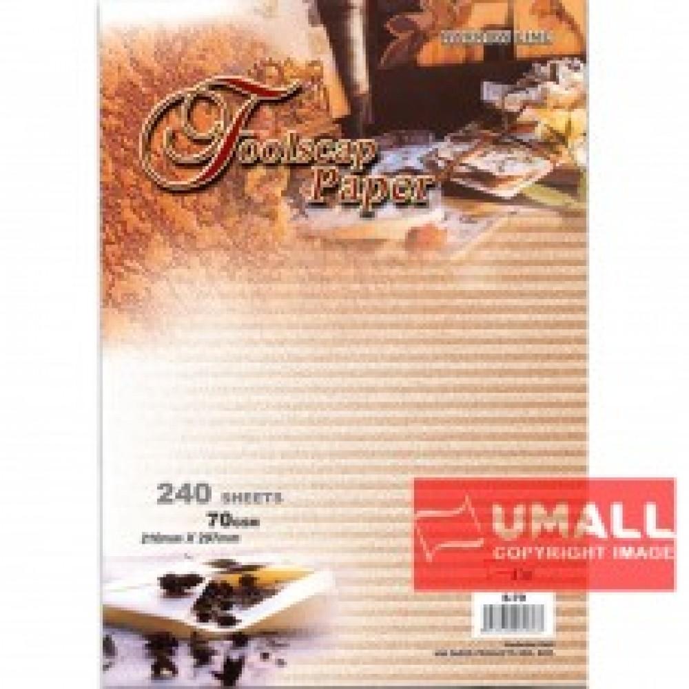 UNI FOOLSCAP PAPER N/L 70G A4-240'S (S-79)