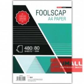 image of UNI FOOLSCAP PAPER 80G A4-480'S (S4802)