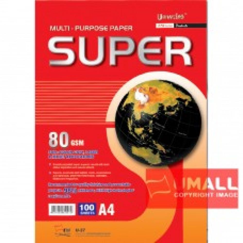 UNI SUPER MULTIPURPOSE PAPER 80G A4-100'S (U-37)