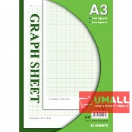 image of UNI GRAPH SHEET A3-20'S (S-27)