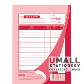 image of UNI BILL BOOK 3 PLY (S5353) 10 IN 1