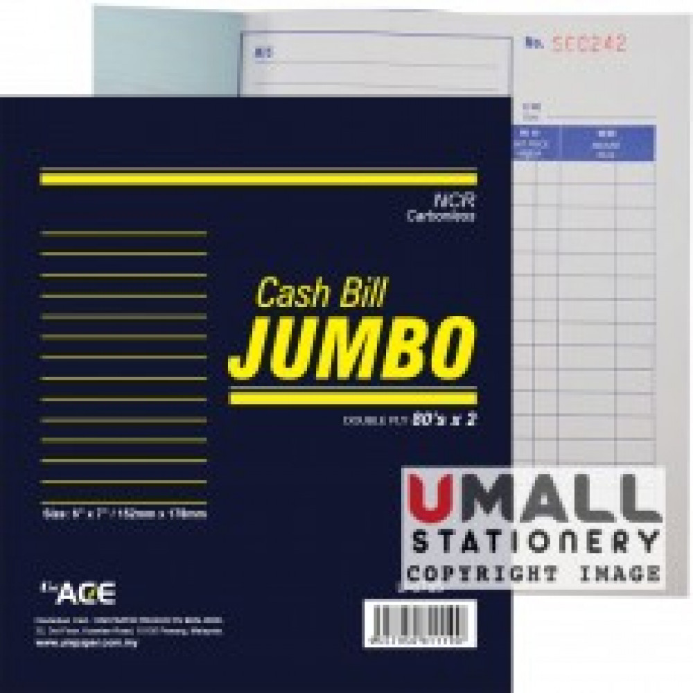 UNI JUMBO CASH BILL NCR 2 PLY X 80'S (U-6785)
