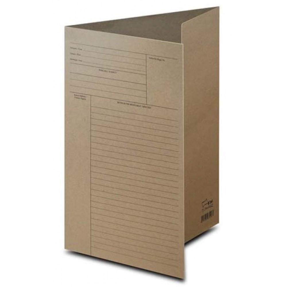 Uni Paper Brown File (Thick) 100's
