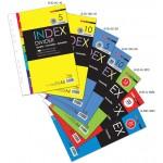 Uni Paper A4 Index Divider 5 Colors 10 Sheets S-ID-5C-10 (2 SETS)