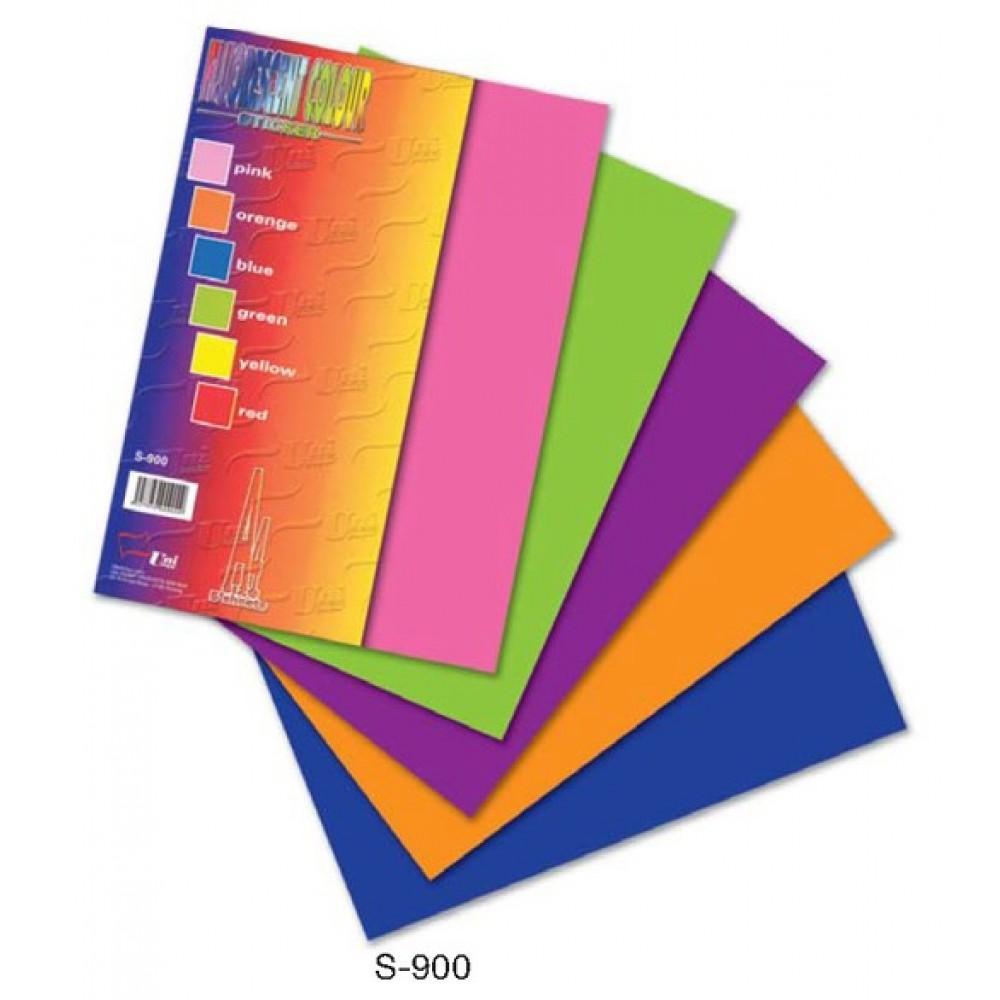 Fluorescent Colour Sticker A4 5's