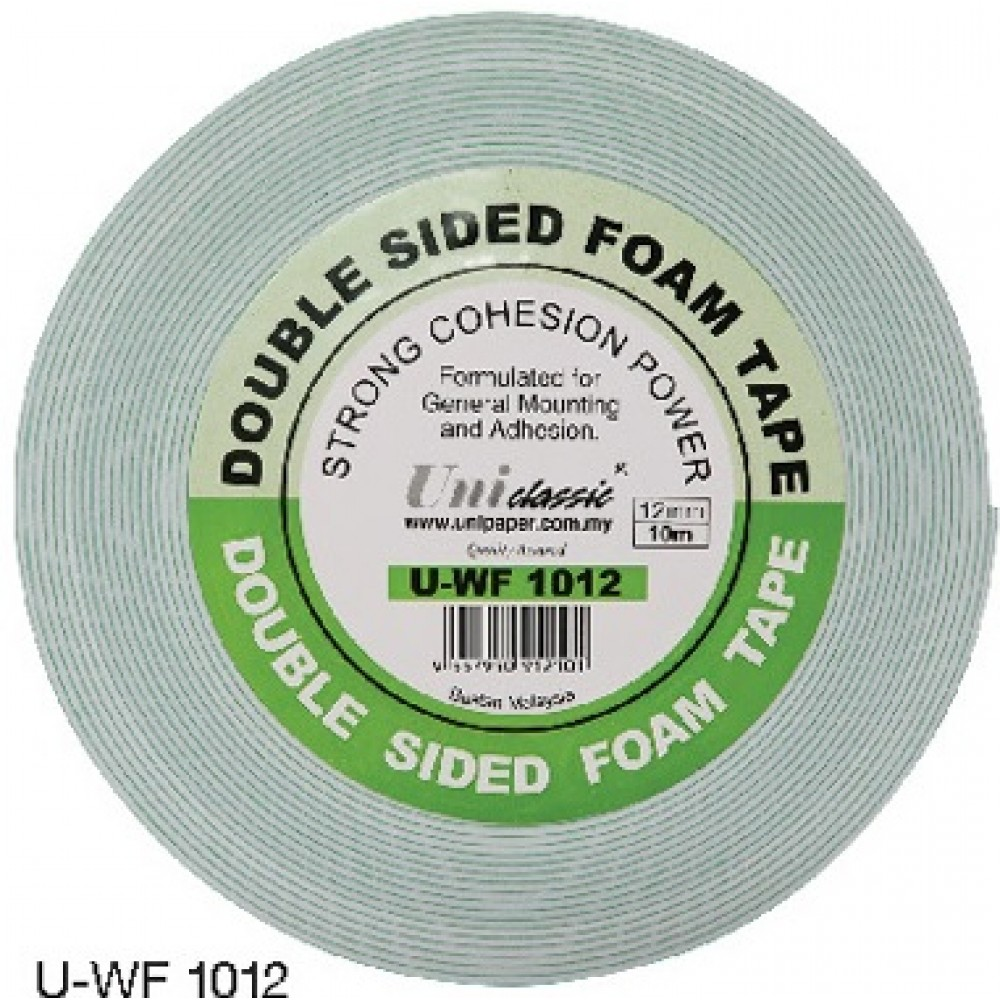 Uni Paper 12mm x 10yds Classic Double Side Foam Tape