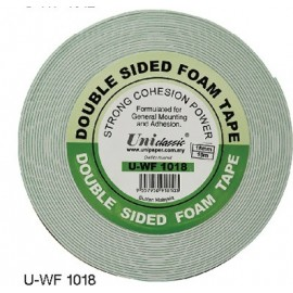 image of Uni Paper 18mm x 10yds Classic Double Side Foam Tape