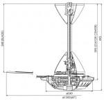 KDK Regulator Type Ceiling Fan (150cm/60″) K15W0-SL