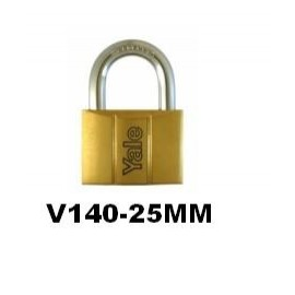 image of Yale Brass Padlock (25mm) V140-25