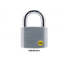 image of Yale Solid Brass Padlock (50mm) Y120-50-127-1