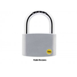 image of Yale Solid Brass Padlock (70mm) Y120-70-114-1