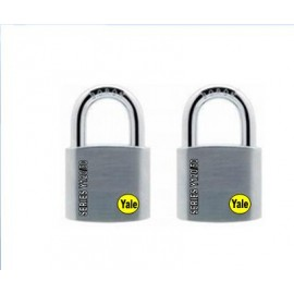 image of Yale Solid Brass Padlock (50mm) Y120-50-127-2-P1