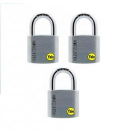 image of Yale Solid Brass Padlock (50mm) Y120-50-127-3-P1