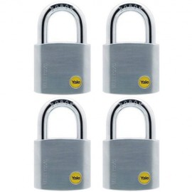 image of Yale Solid Brass Padlock (50mm) Y120-50-127-4-P1
