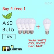 image of FF Lighting LED A60 Eco Bulb 10W E27  ( Buy 4 free 1)