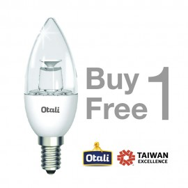 image of Taiwan Otali LED Candle Bulb 4W E14 Warm White (Buy 1 Free 1)